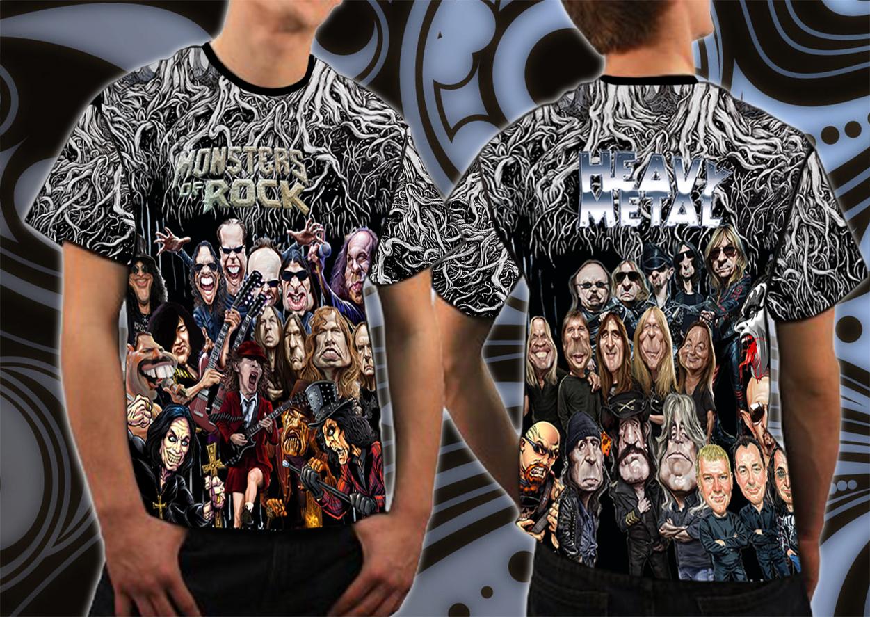 da9864517099 Tričko Full print-Heavy metal