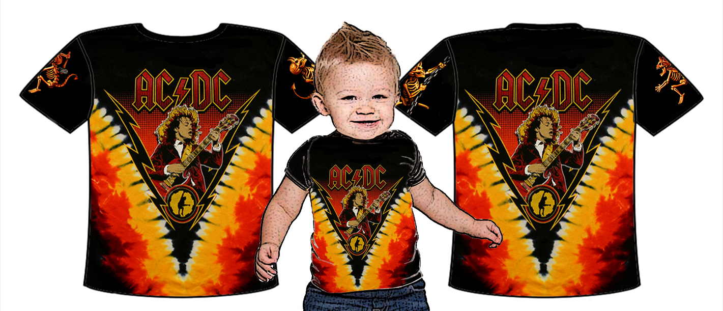 Baby full print-ACDC