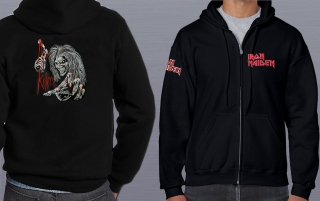 Mikina embroidered-Iron Maiden 01
